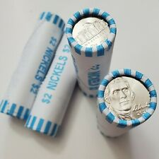2020 D Jefferson Nickel Roll 40 Coins Roll Bu Roll Free Shipping