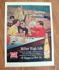 1964 Miller High Life Beer Ad Couples Bowling Theme