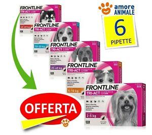 Frontline TRI-ACT 6 pipette per cani  2-5 / 5-10 / 10-20 / 20-40 / 40-60 kg  NEW