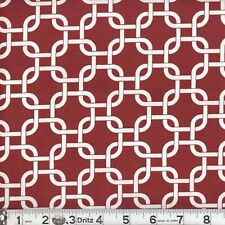 "2 yards of ""Rope Links"" Burgandy  Fabric"
