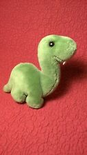 "6"" Vintage Dakin 1987 Dinosaur Brontosaurus green plush stuffed toy"