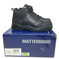 $155 NEW Matterhorn Mens Sz 9 M Leather Safety Cap Toe Boots Military Police USA