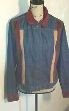 METROSTYLE Womens Denim Pant Jacket Set Size 12 Multicolor