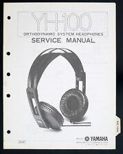 YAMAHA yh-100 ORIGINAL Ortho Système Casque écouteurs / audio manuel de service