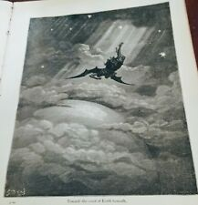 """Dore Engraving from 1866 Edition of Milton's """"Paradise Lost,""""  PG 82 Orginal prt"""