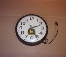 Vintage John Deere Electric Clock - Farm Equipment Advertising Tractor Combine