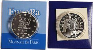 Frankreich 1 1/2 Euro 2008 - EU-Ratspräsidentschaft - PP im Etui + Zertifikat