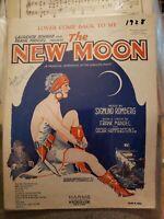 Vintage Sheet Music 1928 New Moon Oscar Hammerstein Frank Mandel Sigmund Romberg