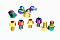 4 PCS M6x20mm Golden//Rainbow GR5 Titanium Cone Head Screw For Bicycle Disc Brake