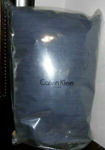 New CALVIN KLEIN BAMBOO FLOWERS KING Rythmic Blue FITTED SHEET