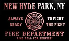 qy61693-r FIRE DEPT NEW HYDE PARK, NY NEW YORK Firefighter Neon Sign