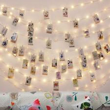 5M 50LED Luci 50 portafoto Polaroid, Lucine Led Decorative per Camere luce calda
