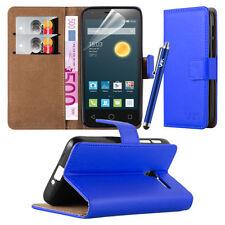 Fundas y carcasas lisos Para Alcatel One Touch color principal azul para teléfonos móviles y PDAs