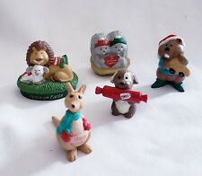 Lot of 5 Hallmark Merry Miniatures Christmas Includes 1995 Lion and Lamb