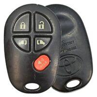 OEM Toyota Keyless Entry Remote Fob Transmitter For Sienna Highlander GQ43VT20T