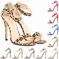 Womens Ladies Toe High Heels Shoes Stilettos Sexy Sandals Size 4 5 6 7 8 9 10 11