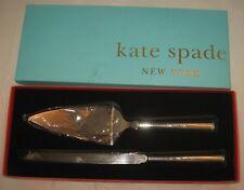 Kate Spade Lenox Darling Point Mr & Mrs 2-Pc Silverplate Cake Serving Box Set