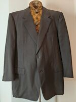 Canali Black Pinstripe Wool Suit Sport Coat Blazer Jacket 50 L