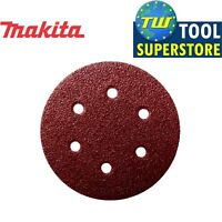 Makita Hook & Loop Backed 150mm Hole Punched Sanding Discs 10 Pack 120 Grit
