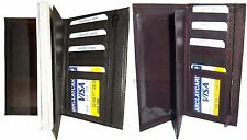 Leather Checkbook cover, Check book wallet, 7 credit card, ID Zip Coin pocket BN
