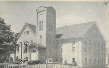 Geneseo Illinois~Presbyterian Church~Vestibule Under Tower 1940s B&W Postcard