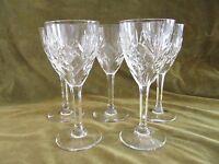 5 verres à vin blanc 10cl cristal Saint Louis Chantilly crystal wine glasses