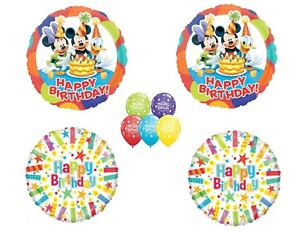 Mickey, Minnie & Donald Duck Happy Birthday Party balloons Decoration