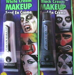 BLACK & WHITE MAKE UP FACE PAINT  THEATRE HALLOWEEN CHILDRENS PARTY