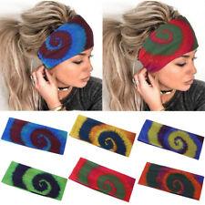 Womens Wide Stretch Headband Sports Yoga Hairband Elastic Hair Turban Headdress
