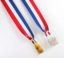 More details for french shoulder sash - silver tassel & knot