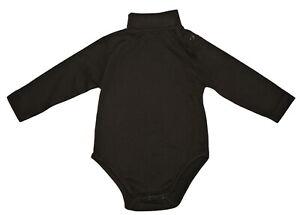 Marie Chantal 100% Pima Cotton Brown Turtle Neck Bodysuit NWOT Girls or Boys