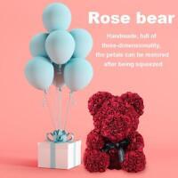 Rose Bär Spielzeug Frauen Mädchen Blume Romantisch Valentinstag Wedding Gifts