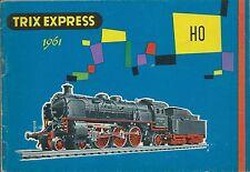 Catalogo Trix Express HO 1961 - Stampato in Germania - Ernst Voelk - Italiano