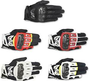Alpinestars SMX-2 Air Carbon V2 Gloves - Motorcycle Street Leather Touch Screen