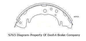 Drum Brake Shoe-Dash4 Rear Dash 4 Brake B765 fits 2001 Hyundai Santa Fe