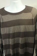 NEW Perry Ellis Brown Striped Crewneck Long Sleeve Shirt Size 2XL XXL NWT