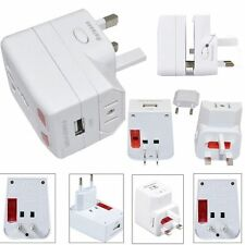 UNIVERSAL INTERNATIONAL WORLD WIDE multi prise voyage Adaptateur Chargeur 1 USB