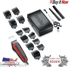 Professional Barber Set Shaver Clipper Trimmer Combo Andis 20-Piece Hair Kit New