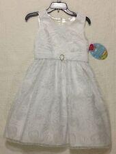 NEW AMERICAN PRINCESS FORMAL DRESS WHITE WEDDING FLOWER GIRL PLUS SIZE 14.5