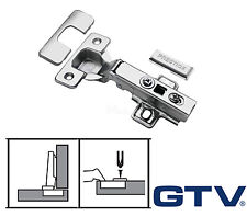 GTV Soft Close Kitchen Cabinet Cupboard Door Hinge Hinges Euro Plate Screws