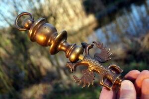 traumhaft schöner Bronze Lampenaufhänger Österreich? Baldachin Kerzenleuchter