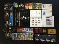 Random Junk Drawer Box Lot Sports Cards, Stamps, Watches, Ect. Lot#A101