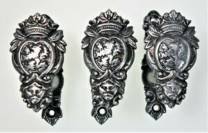 3 Holder Bracers Hardware Faux Shelving Accent Crowned Lion Medieval Renaissance