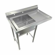 "Commercial Utility 39"" Stainless Steel Sink Silver for Outdoor/ Laundry Room New"
