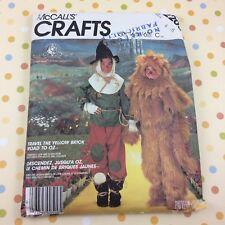 Wizard of Oz Scarecrow Lion Costume Pattern McCalls 2203 Child Size 4 5 6 Uncut