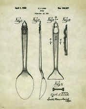 Ice Cream Patent Poster Art Print Museum Vintage Dairy Queen Spoon Cones PAT196
