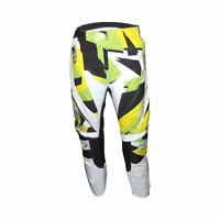 PULSE STORM YELLOW & GREEN MOTOCROSS MX BMX MTB PANTS + FREE SOCKS WORTH £9.99