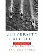 University Calculus: Elements with Early Tra... by Thomas Jr., George B Hardback