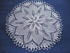 weißes rundes Deckchen gestrickt  30 cm Baumwolle Tischdeko
