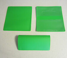1 NEW LIME GREEN VINYL CHECKBOOK COVER WITH DUPLICATE FLAP CHECK BOOK COVERS